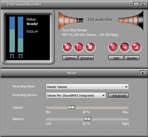 โปรแกรมอัดเสียง All Free Sound Recorder