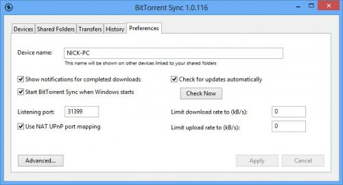 โปรแกรม BitTorrent Sync