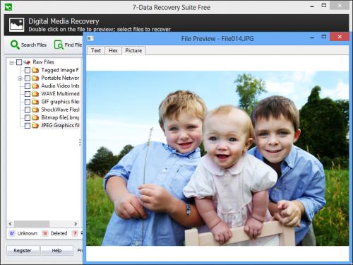 โปรแกรมกู้ไฟล์ภาพ 7-Data Recovery Free