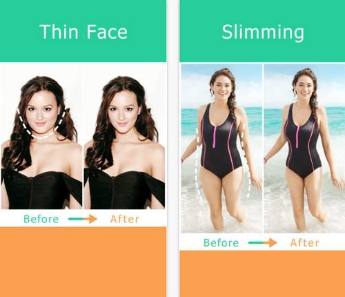 App ทำหน้าเรียว หุ่นผอมเพรียว Thin Booth