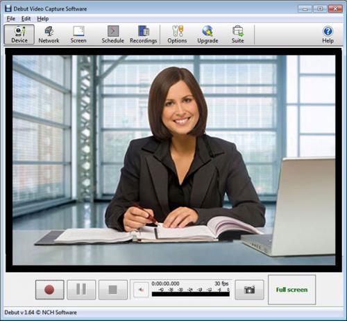 โปรแกรมจับภาพหน้าจอ Debut Video Capture Software Free