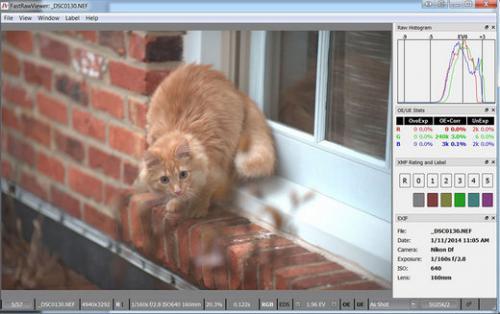 โปรแกรมเปิดไฟล์ภาพดิบ FastRawViewer
