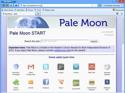 เว็บเบราว์เซอร์ Pale Moon