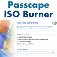Passcape ISO Burner (ไรท์แผ่น CD DVD จาก ISO อิมเมจไฟล์)