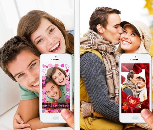 App กรอบรูปคู่รัก Valentine Cam