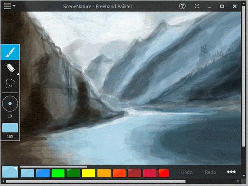 โปรแกรมวาดรูป Freehand Painter