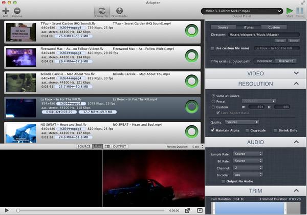โปรแกรมแปลงไฟล์วีดีโอ Adapter