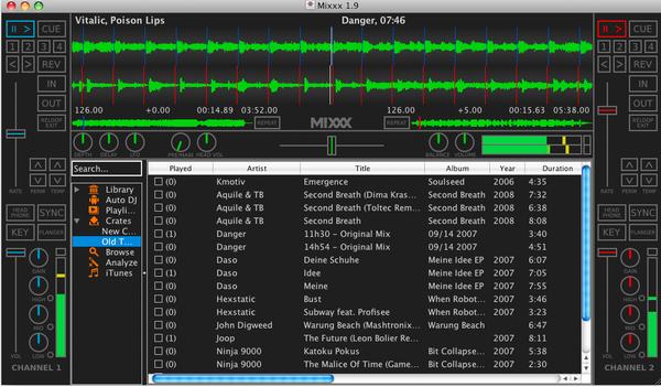 โปรแกรมดีเจ Mixxx