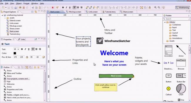 โปรแกรมออกแบบ WireframeSketcher