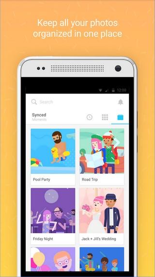App แชร์รูปภาพ Moments
