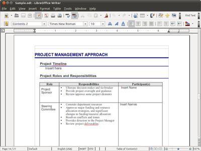 โปรแกรมพิมพ์งาน LibreOffice Writer