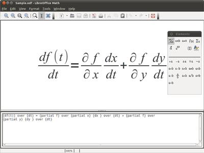 โปรแกรมคำนวณคณิตศาสตร์ LibreOffice Math