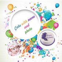 Cake with Name and Photo (App อวยพรวันเกิด) :