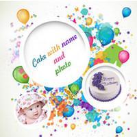 Cake with Name and Photo (App อวยพรวันเกิด)