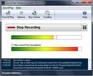 โปรแกรมบันทึกเสียงคอมพิวเตอร์ SoundTap Streaming Audio