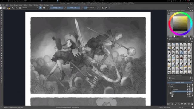 Krita Studio (โปรแกรม Krita วาดรูป มืออาชีพ) :