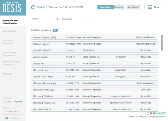 โปรแกรมถอนการติดตั้ง OESIS Endpoint Assessment Tool
