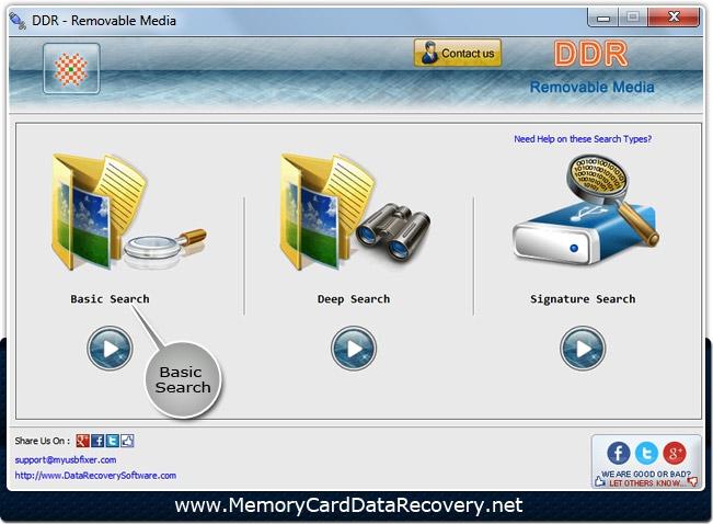 โปรแกรมกู้ข้อมูล Removable Media Data Recovery
