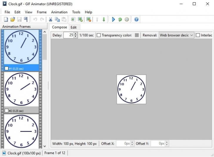 โปรแกรม สร้างภาพเคลื่อนไหว Advanced GIF Animator