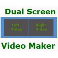 Dual Screen Video Maker (โปรแกรมเปรียบเทียบ และ รวมวีดีโอ 2 หน้าจอ)