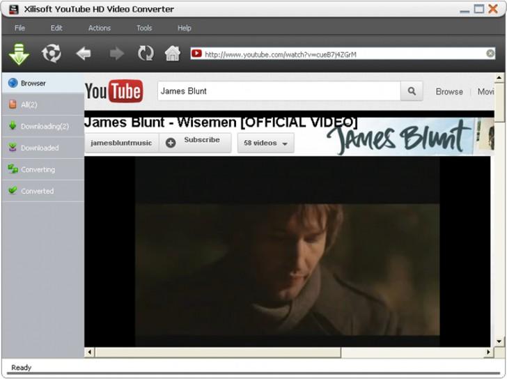 Xilisoft YouTube HD Video Converter (โปรแกรมดาวน์โหลดวีดีโอ Youtube คุณภาพ HD) :