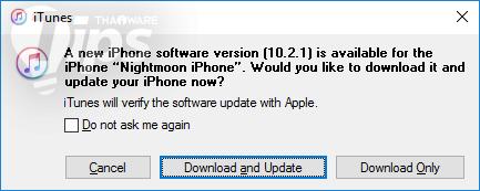 วิธีอัพเดท iOS 10.2.1 พร้อมลิงค์ดาวน์โหลด Firmware โดยตรง
